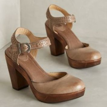 Frye Jessie Clogs Dark Grey