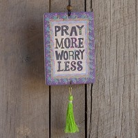 Car  Air  Fresheners:  Pray  More  Tassel  Air  Freshener  From  Natural  Life