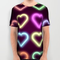 Neon Love All Over Print Shirt by Dood_L