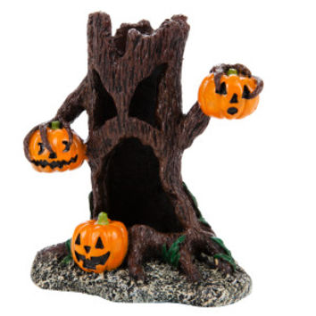 Top Fin® Pumpkin Tree Halloween Aquarium Ornament