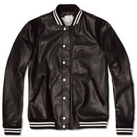 Band Of Outsiders Leather Varsity Jacket
