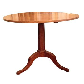 Pre-owned Continental Fruit Wood Tilt Top Table