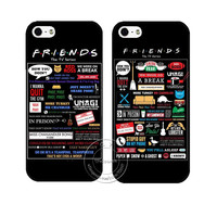 FRIENDS Favorite Quotes Case Cover for Apple iPhone 4 4S 5 5S 5C 6S 6 Plus 6SPlus