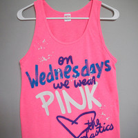 On Wednesdays We Wear Pink Tank Top (XS,S,M,L,XL)
