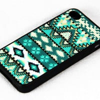 Aztec tribal pattern iPhone 4 and iPhone 4S Case,Rubber Material Full Protection