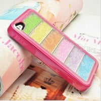 Bestgoods — Unique Rainbow Sliding Colourful Hard Cover Case For Iphone 4/4s/5
