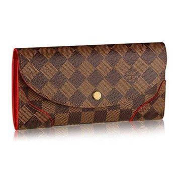 DCCK Louis Vuitton N61221 Damier Canvas Caissa Wallet, Cherry