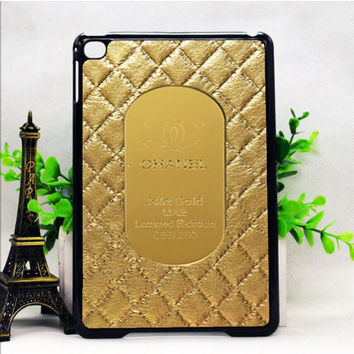 CHANEL GOLD QUILTED IPAD MINI 1 | 2 | 4 CASES