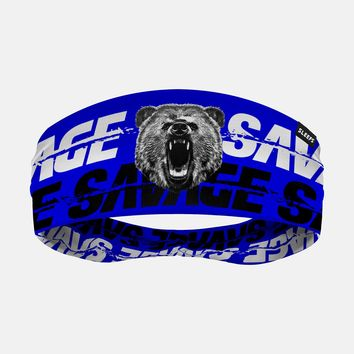 Savage Bear Blue Headband