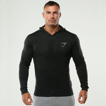 Spring Autumn Bodybuilding Hoodies Gyms Golds Shark Tracksuit Workout Clothes Fitness Shirt Hooded SportSuits Sportwear m7