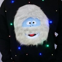 Abominable Snowman - LIGHT UP - UGLY CHRISTMAS SWEATER | StickItVinyls