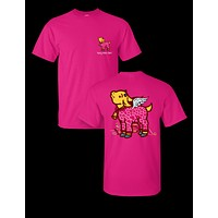 Sassy Frass Valentine's Day Goat Cupid Wings Heart Bright Girlie T Shirt