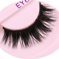 1 pair Supernatural handmade natural long false eyelash 3D strip mink lashes thick fake lashes Makeup beauty 10 style