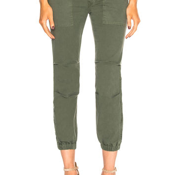 NILI LOTAN Cropped French Military Pants in Avocado | FWRD