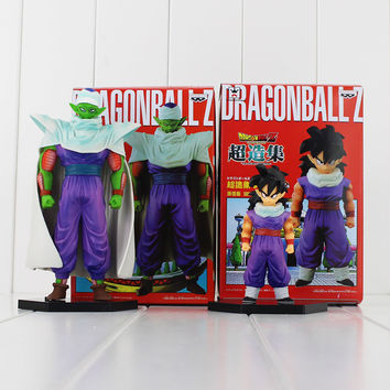 2pcs/lot Dragon Ball Z Piccolo Son Gohan PVC Action Figures Model Toy Doll Banpresto DBZ Figuras 10cm 17cm