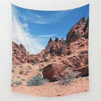Valley of Fire Wall Tapestry by Kathrinmay