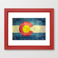 Colorado State Flag Framed Art Print by LonestarDesigns2020 - Flags Designs +