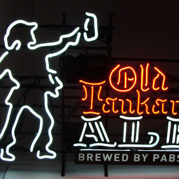 Pabst Blue Ribbon Old Tankard Ale Neon Sign