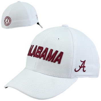 Top of the World Alabama Crimson Tide Dogleg One-Fit Flex Hat - White