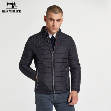 Men Quilted Basic Jackets Cotton Padded Regular Windproof Coats Winter Male Coat