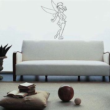 PETER PAN TINKER BELL Wall Art Sticker Decal 004