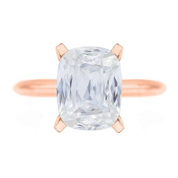 **NEW Criss Cut Cushion Heirloom FAB Moissanite 4 Prongs FANCY Solitaire Ring
