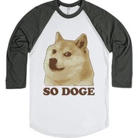 So Doge-Unisex White/Asphalt T-Shirt