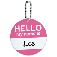 Lee Hello My Name Is Round ID Card Luggage Tag