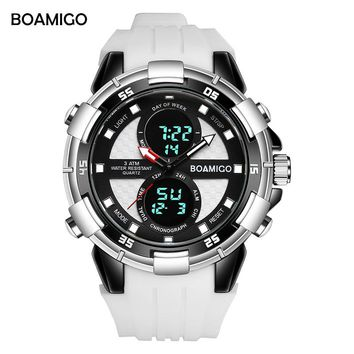 Mens Sport wristwatch, Dual Display, Rubber bandAlarm,Back Light,Water Resistant,Luminous,Multiple Time Zone,Chronograph,Week Display,Luminous Hands,Perpetual Calendar,Stop Watch,Complete Calendar,Swim 30M, Auto Date,LED display