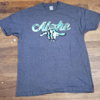 "HIC ""Aloha Shaka"" Mens Gray T-Shirt"