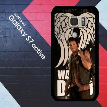 The Walking Dead Daryl Dixon Wings Z2791 Samsung Galaxy S7 Active Case