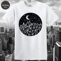 Geometric Sky T-Shirt Moon shirt Modern Minimalist Abstract RAW Unique Brand New Unisex hipster swag dope tumblr pinterest unique design