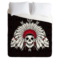 Chobopop Geometric Indian Skull Duvet Cover