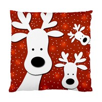 Christmas Reindeer Red 2 Standard Cushion Case (one Side)