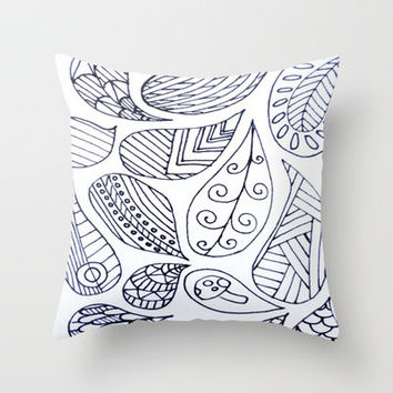 Thought Bubbles Pt. 2 Throw Pillow by Molly Jane Kickham