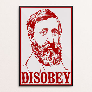 Henry David Thoreau Disobey Poster