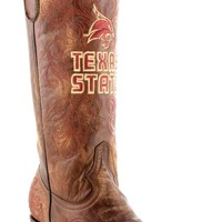Gameday Texas State Ladies Leather Boots SWT-L009-1 - Brass
