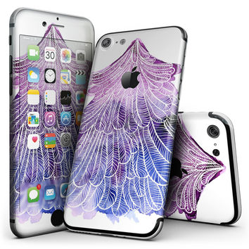 Stenciled Watercolor Evergreen Tree - 4-Piece Skin Kit for the iPhone 7 or 7 Plus