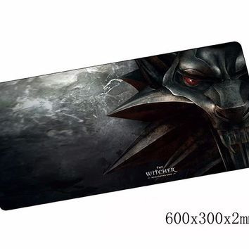 witcher mouse pad cool 600x300x2mm gaming mousepad gamer mouse mat HD pattern pad keyboard computer padmouse laptop play mats