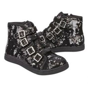 Sequin Buckle High Top Sneakers | Girls Sneakers Shoes | Shop Justice