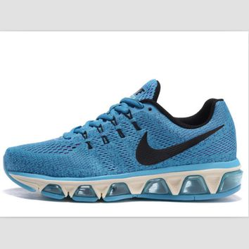 NIKE fashion knitted casual shoes sports running shoes Blue / black