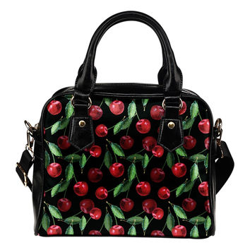 Rockabilly Cherry Shoulder Handbag