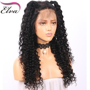 Elva Hair Full Lace Human Hair Wigs Pre Plucked Natural Hairline Water Wave Brazilian Remy Hair Lace Wigs For Black Women