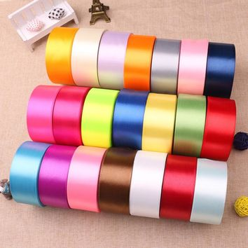40mm 25 Yards 22 Meters Cheap Satin Ribbon For Arts Crafts & Sewing Christmas Wedding Party Decoration Gift Wrap Handmade DIY