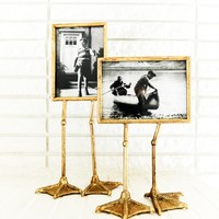 Gold 5x7 Bird Feet Photo Frame