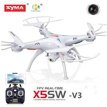 Syma X5SW-V3 Wifi FPV Explorers 2.4G RC Quadcopter Drones With HD Camera White