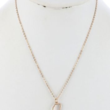 State Of Mississippi Gold Cutout Necklace