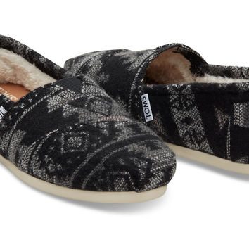 GREY TRIBAL WOOL SHEARLING WOMEN'S CLASSICS