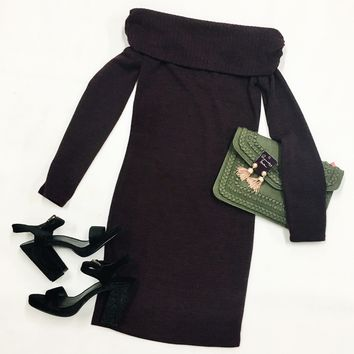 Baby It's Cold Outside Sweater Dress