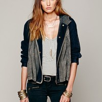 Free People Hooded Swing Jacket